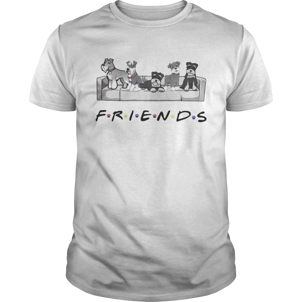 Schnauzer sit on sofa friends  Unisex