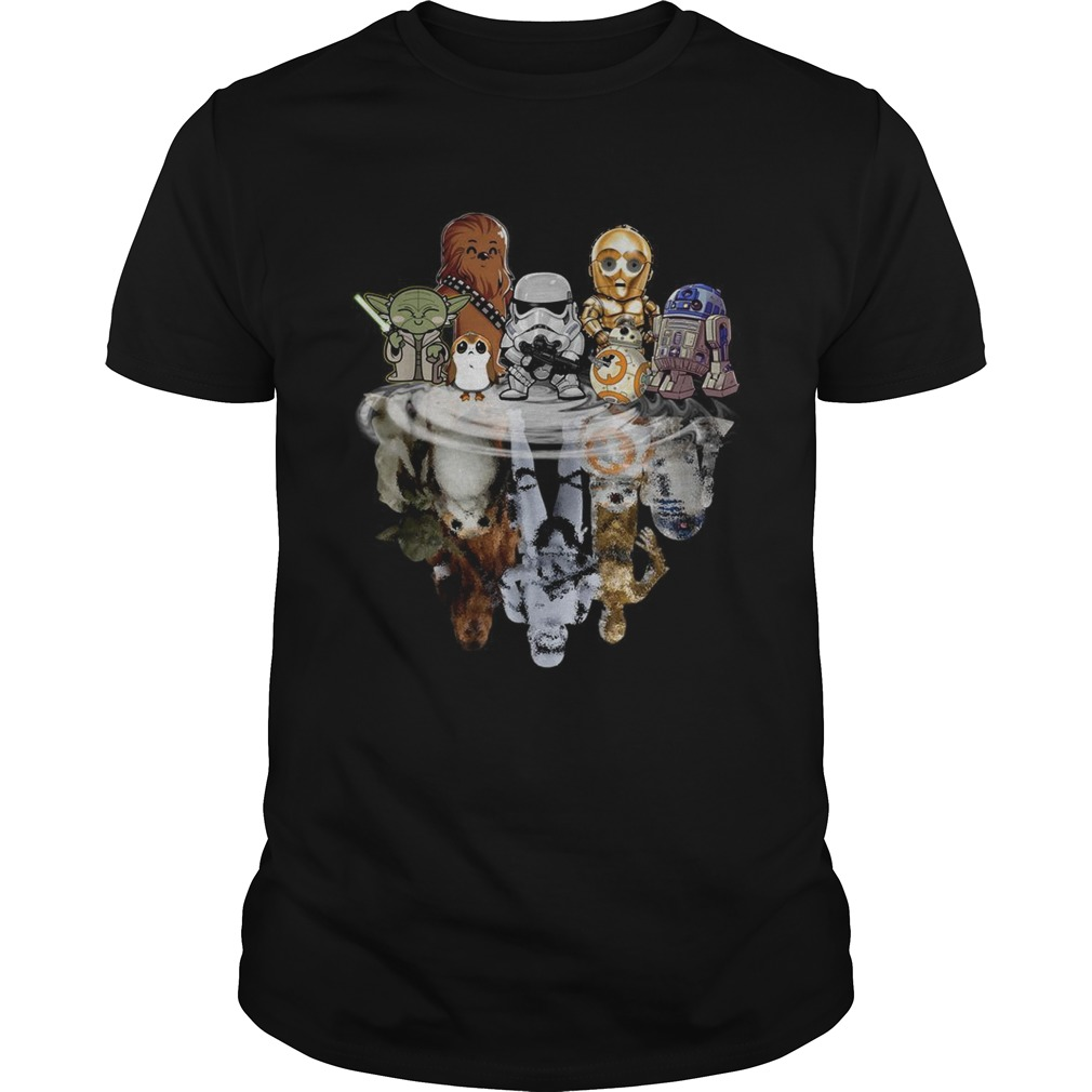 Star Wars characters chibi water mirror reflection  Unisex