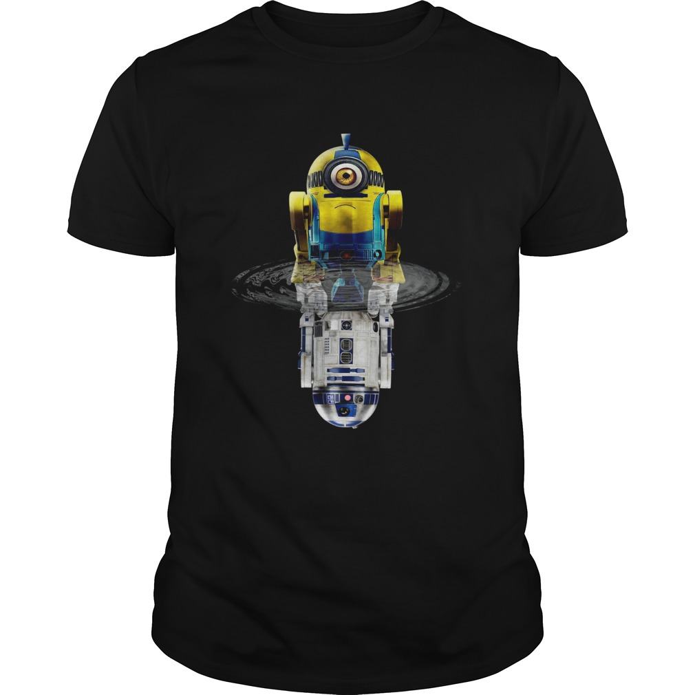 1572664310Minions R2-D2 Star Wars Water Reflection Shirt Unisex
