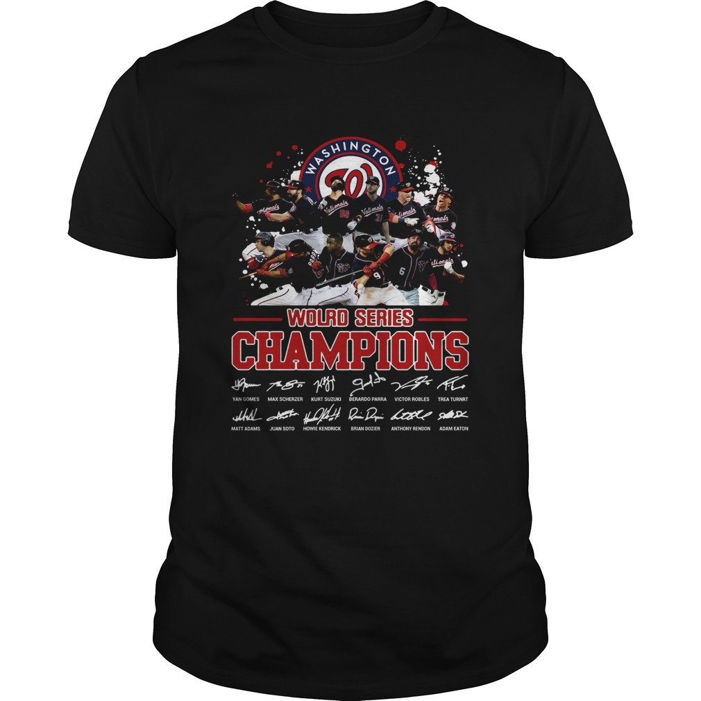 1572668465Washington Nationals 2019 World Series Champions Signatures  Unisex