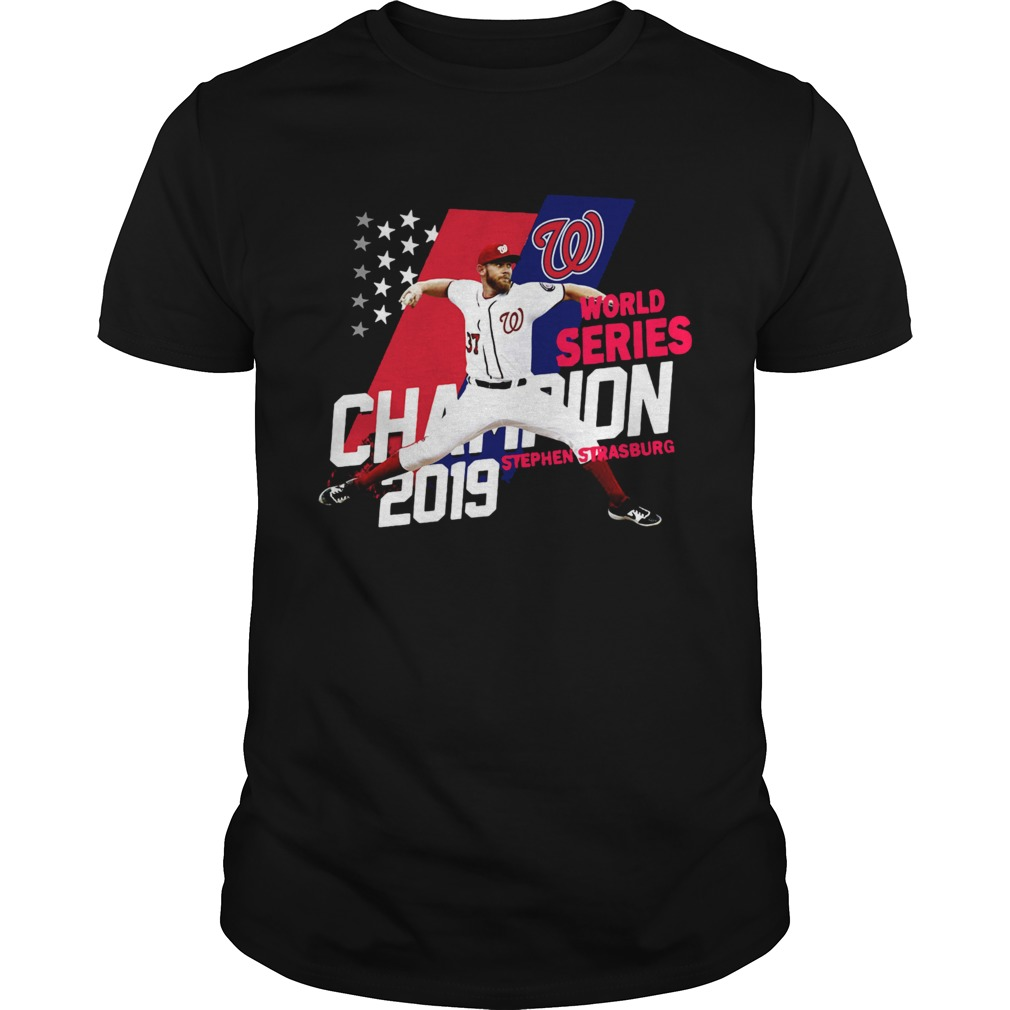 1572843043Stephen Strasburg Washington Nationals world series champions 2019 American Flag  Unisex