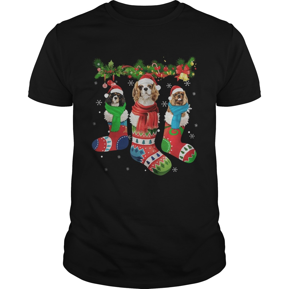 1572844340Cavalier King Charles Spaniel in stocking Merry Christmas  Unisex