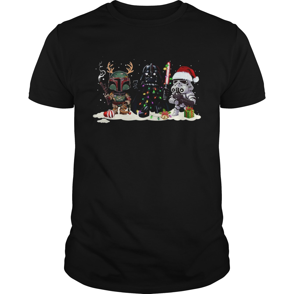 1572854812Star Wars Boba Fett Darth Vader Stormtrooper Christmas  Unisex