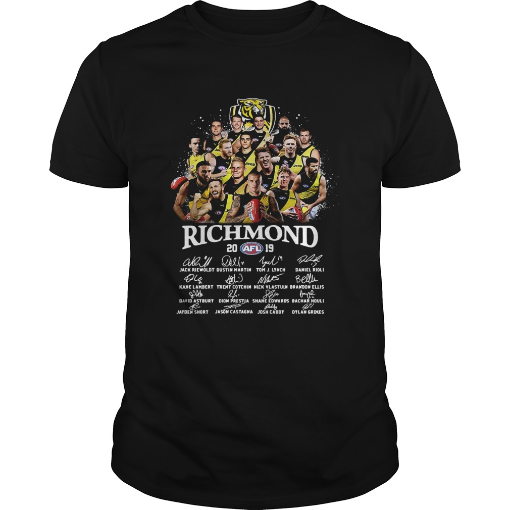 1572856944Tiger Richmond 2019 AFL Team Player Signatures  Unisex