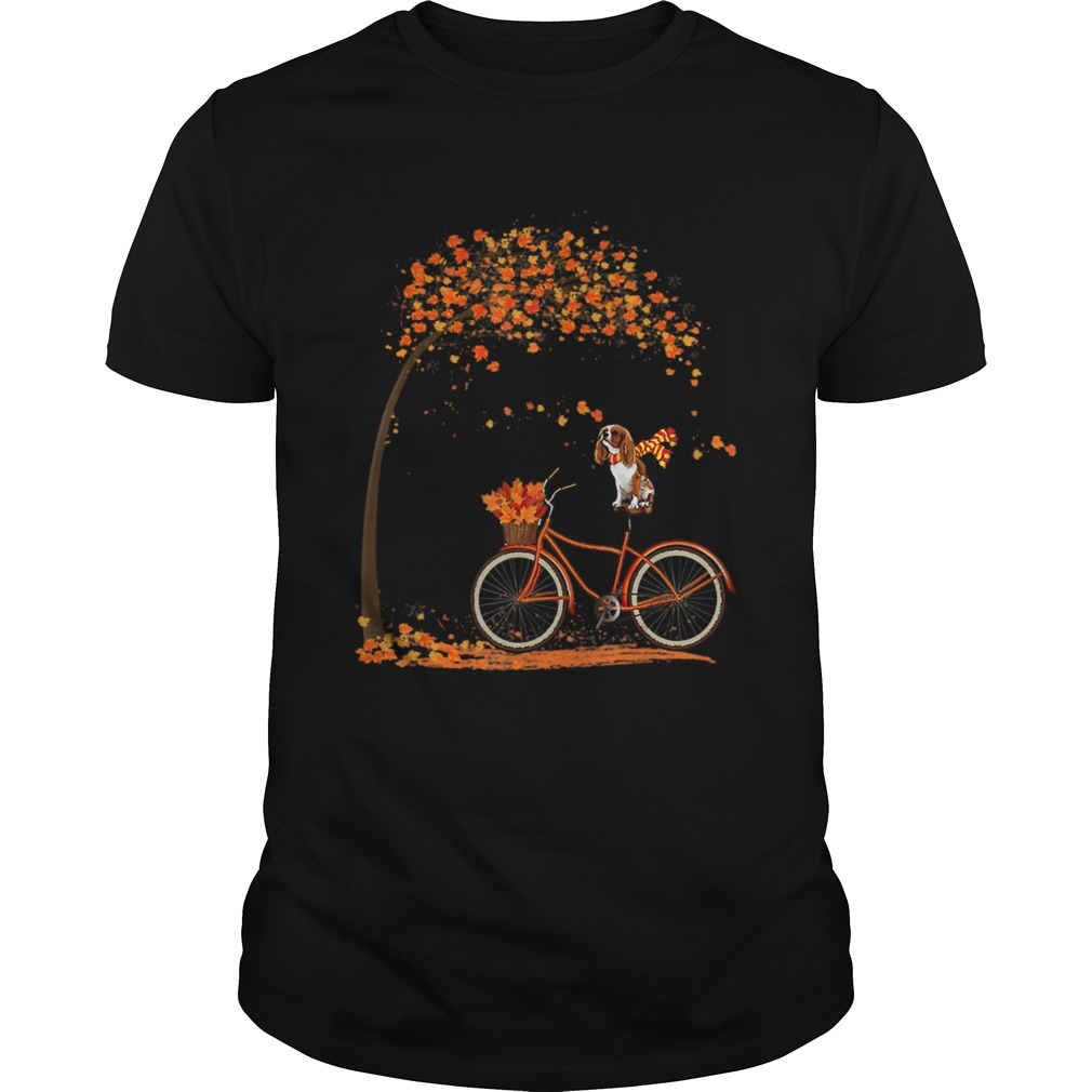 1572861591Cavalier King Charles Spaniel dog in fall dog riding bicycle  Unisex