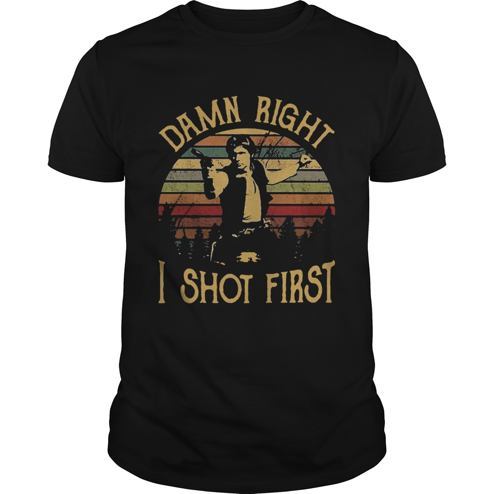 1572871699Sunset Vintage Han Solo Stars War Damn Right I Shot First  Unisex