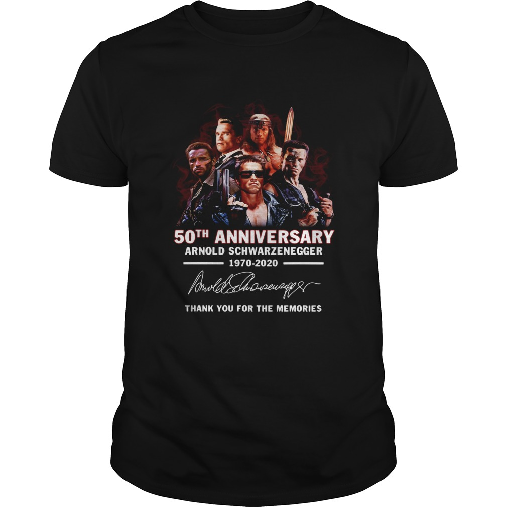 50th Anniversary Arnold Schwarzenegger 19702020 Thank You For The Memories Signature  Unisex