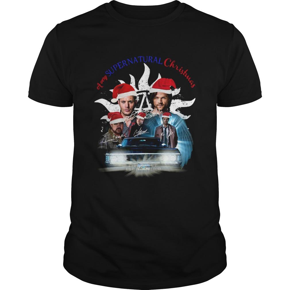 A very Supernatural christmas shirt