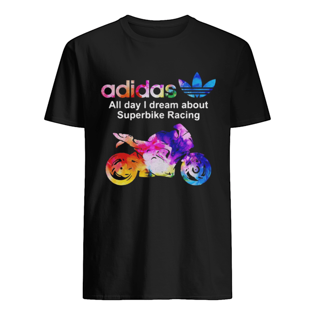 Adidas all day I dream about superbike Racing  Classic Men's T-shirt