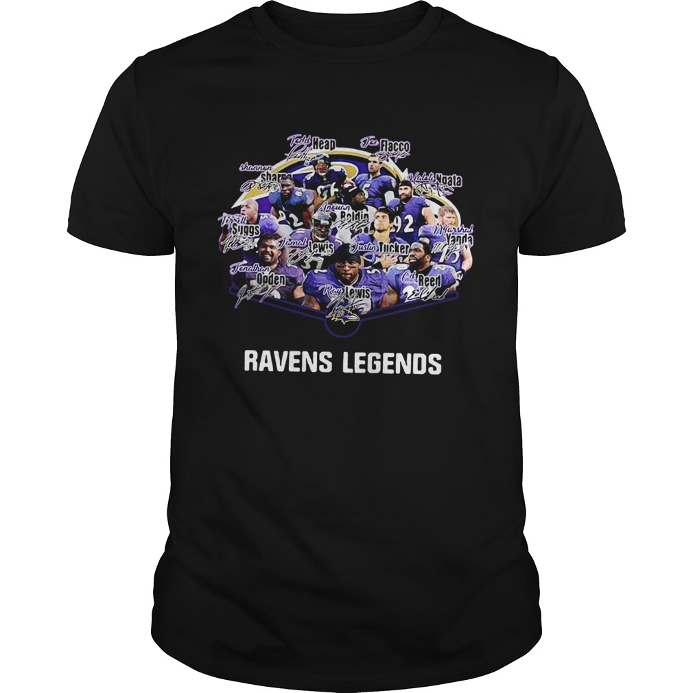 Baltimore Ravens Terrell Suggs Ray Lewis Ed Reed Joe Flacco Legends Signatures  Unisex