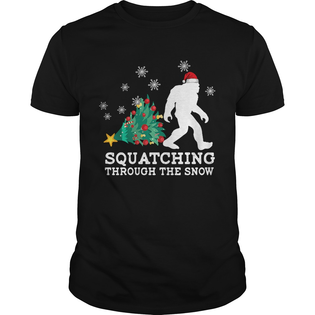 Bigfoot Santa Squatching Through The Snow Christmas  Unisex