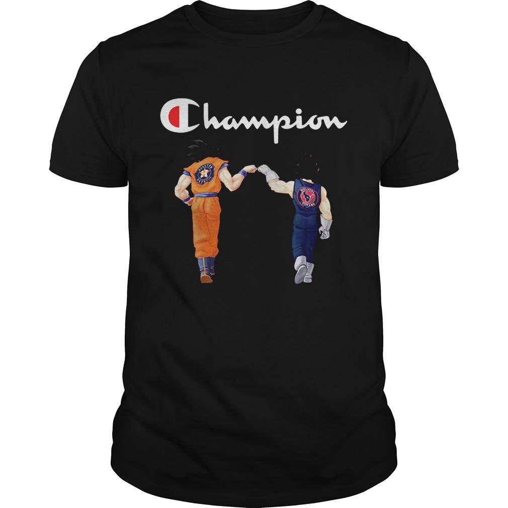 Champion Son Goku and Vegeta Houston Astros Houston Texans  Unisex
