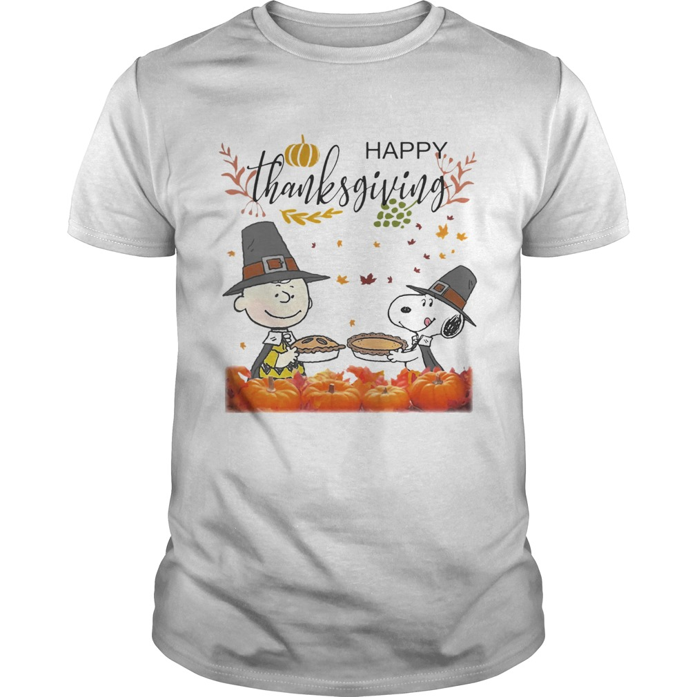 Charlie Brown And Snoopy Peanuts Happy Thanksgiving shirt