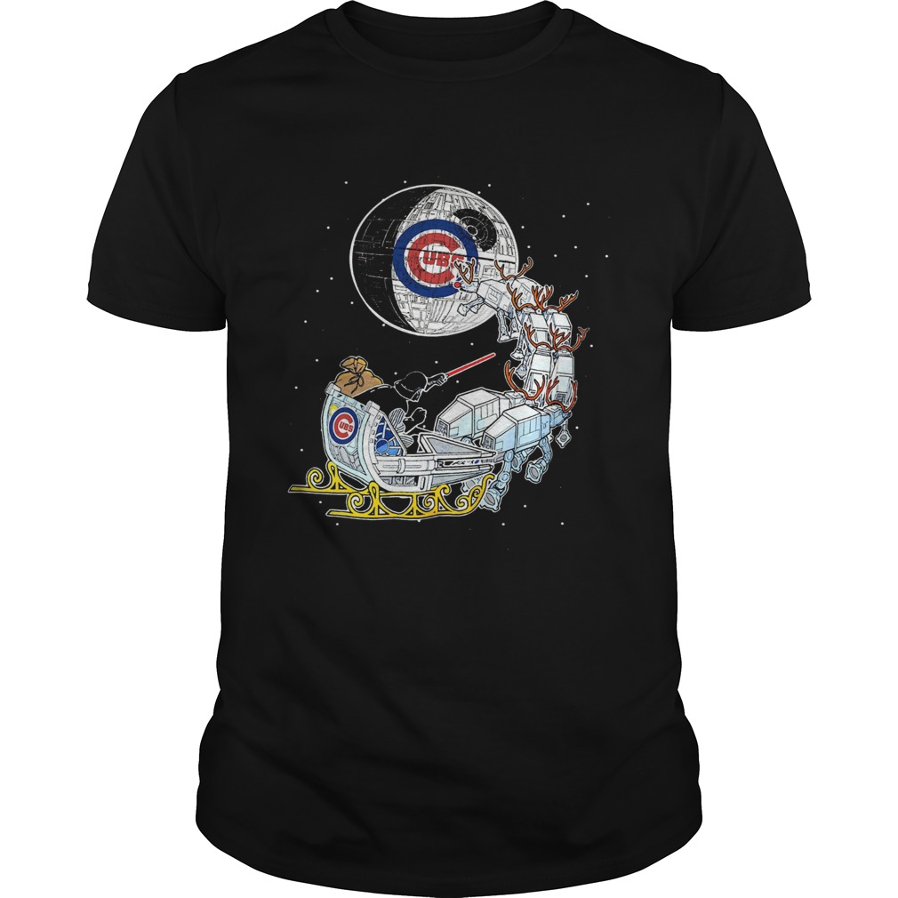 Chicago Cubs Star Wars Christmas Darth Vader Santas Sleigh  Unisex