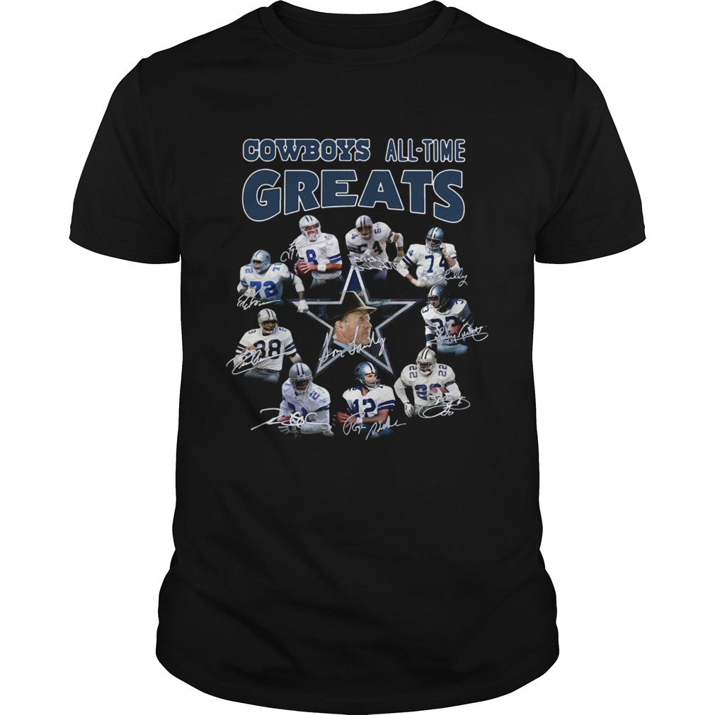 Dallas Cowboys Players All Time Greats Signatures  Unisex