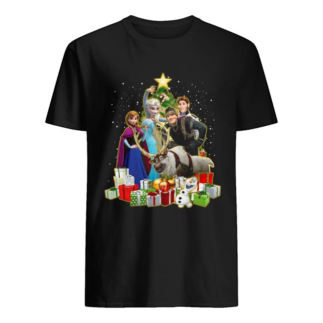 Disney Frozen Characters Merry Christmas Gifts  Classic Men's T-shirt