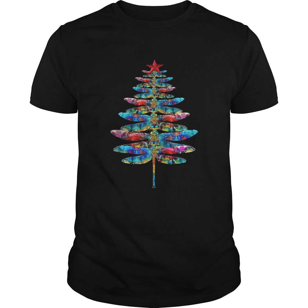 Dragonflies Christmas tree  Unisex