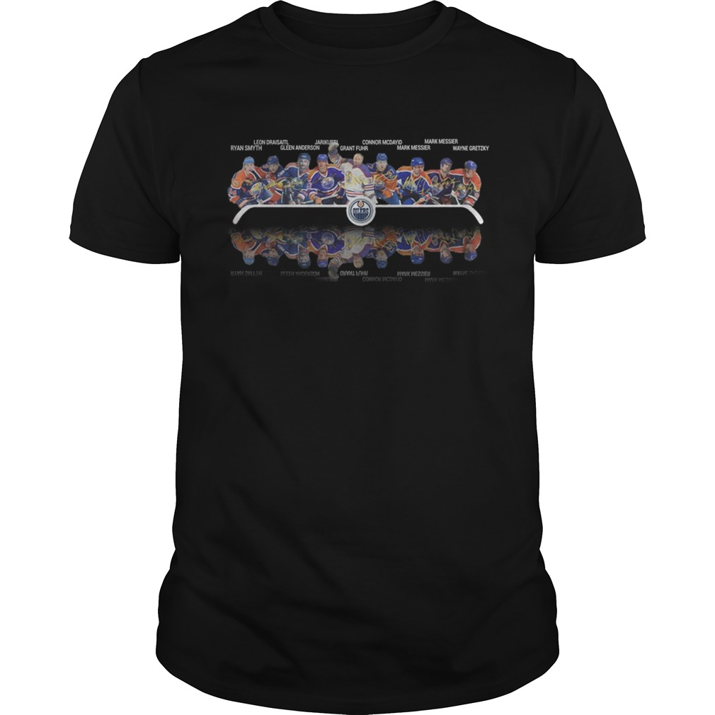 Edmonton Oilers Players Signatures shirt