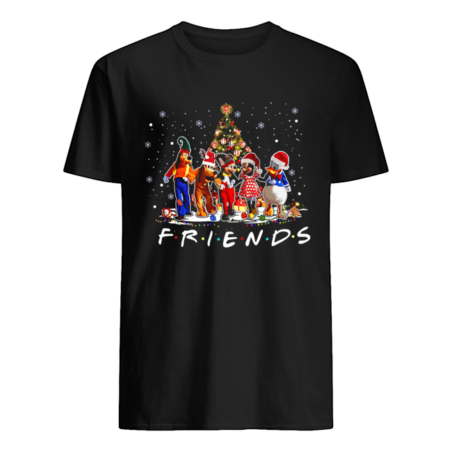 Friends Mickey Mouse characters christmas tree shirt