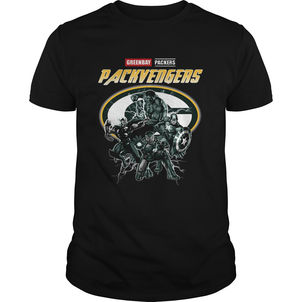 Greenbay Packers Packvengers Avengers Marvel shirt