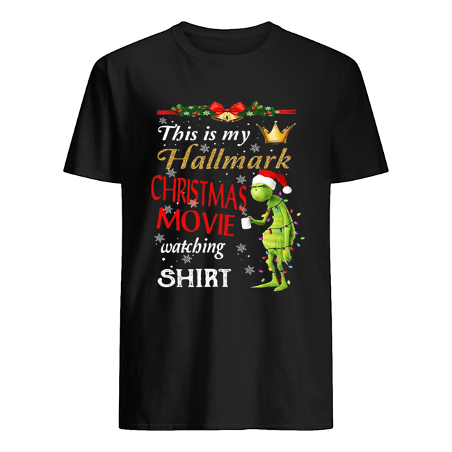Grinch fairy light this is my hallmark christmas movie watching  Classic Men's T-shirt