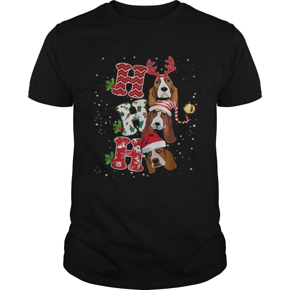 Ho Ho Ho St Bernard Christmas shirt