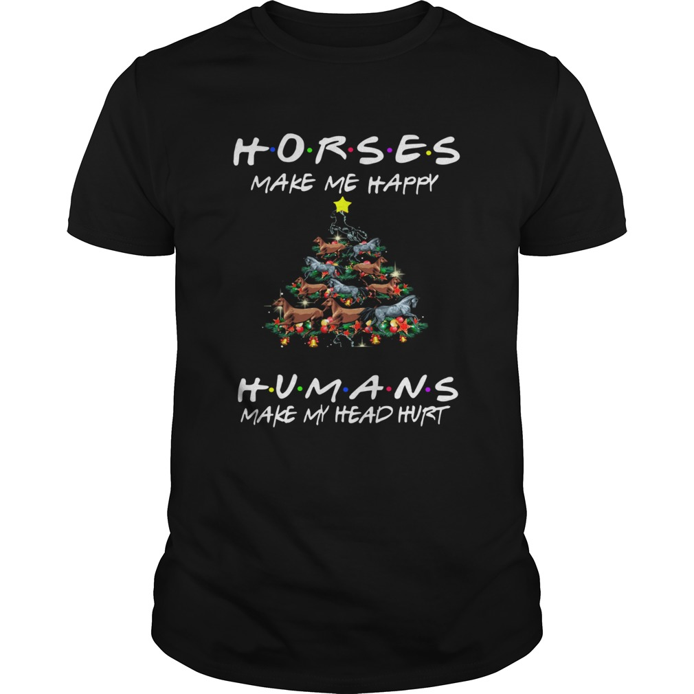 Horses Make Me Happy Christmas 2019 Classic shirt