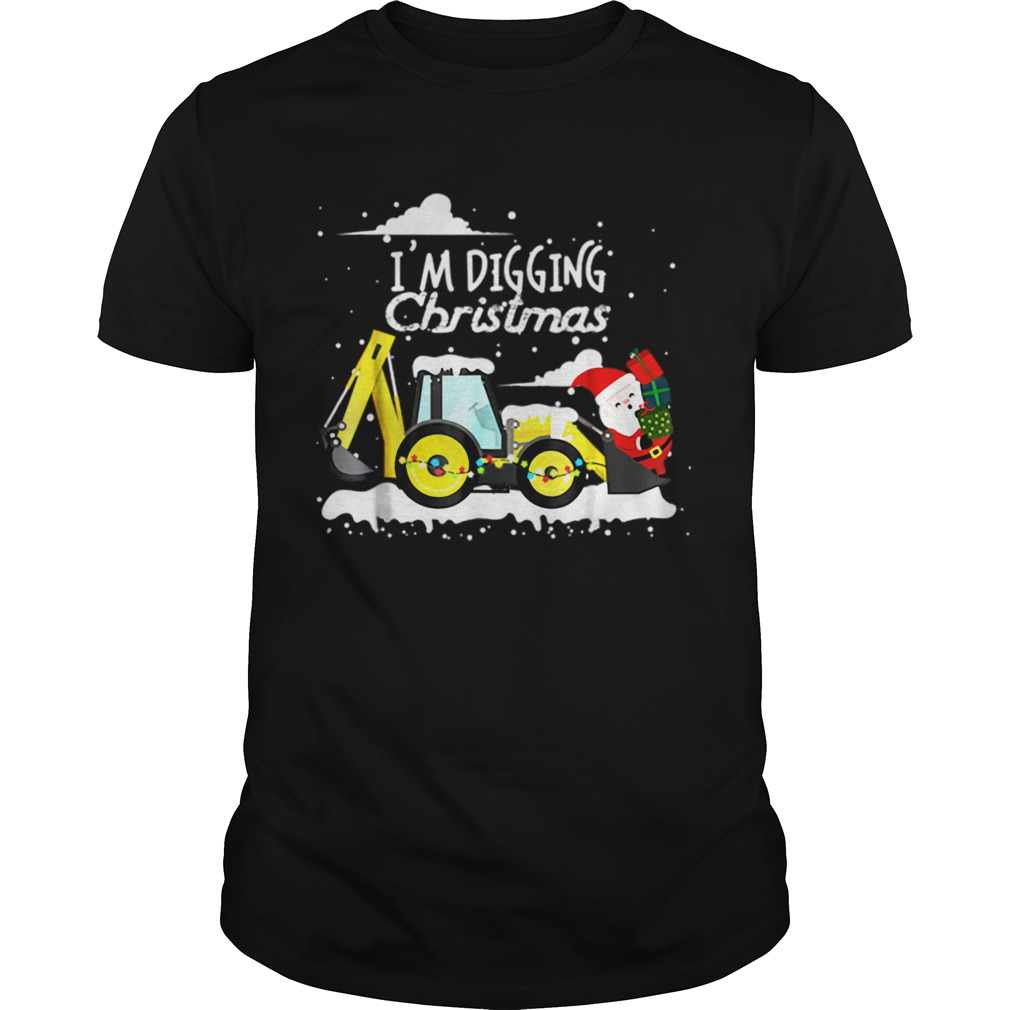 Hot Im Digging Christmas Funny Santa Christmas Gifts  Unisex