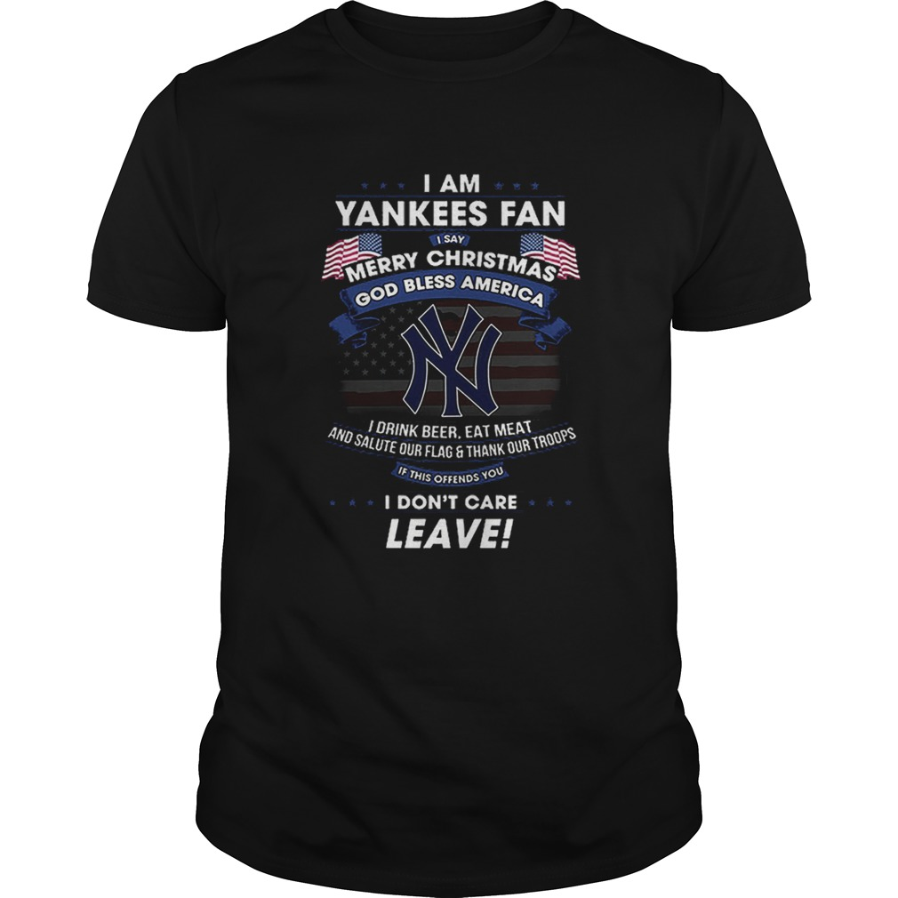 I am Yankees fan i say Merry Christmas god bless America flag  Unisex