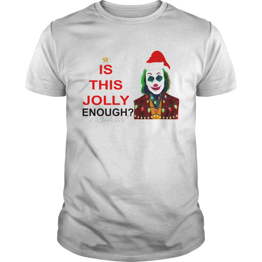 Is this Jolly enough Joker Joaquin Phoenix Christmas  Unisex