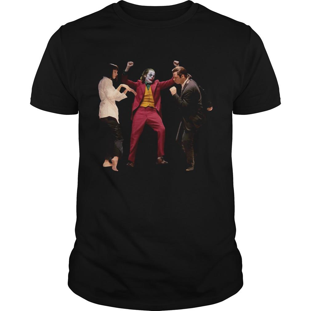 Joker Dance With Mia Wallace Vincent Vega Pulp Fiction Shirt Unisex