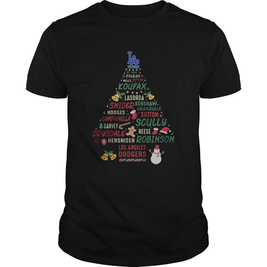 LA Koufax Snider Scully Robinson Dodgers Christmas Tree  Unisex