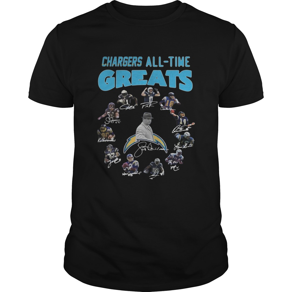 Los Angeles Chargers Players All Time Greats Signatures  Unisex