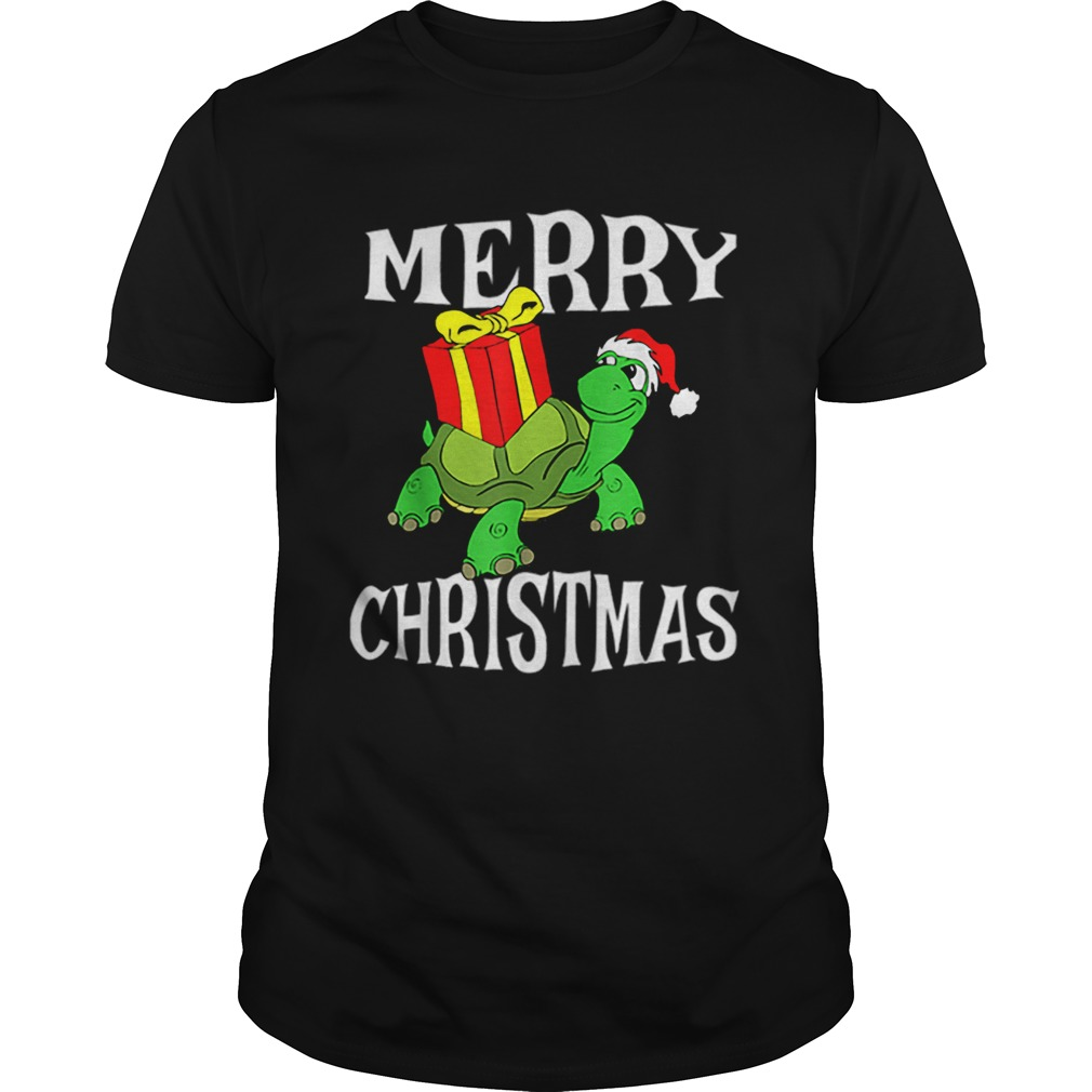 Merry Christmas Turtle Santa Hat Cute XMAS Present Gift  Unisex
