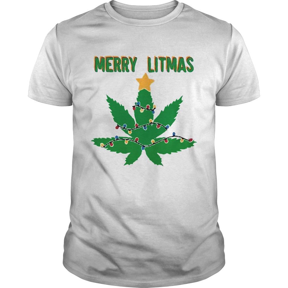 Merry litmas weed leaf Christmas  Unisex