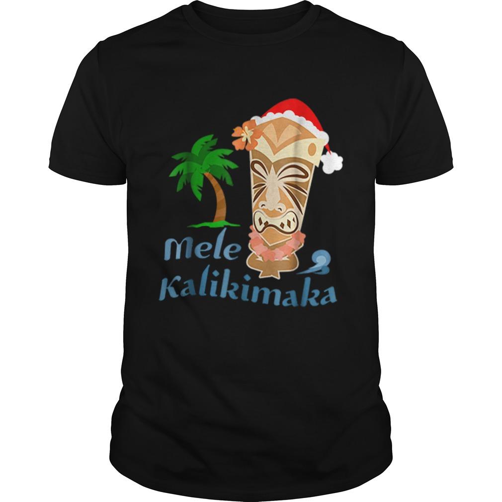Nice Mele Kalikimaka Merry Christmas Hawaiian Tiki  Unisex