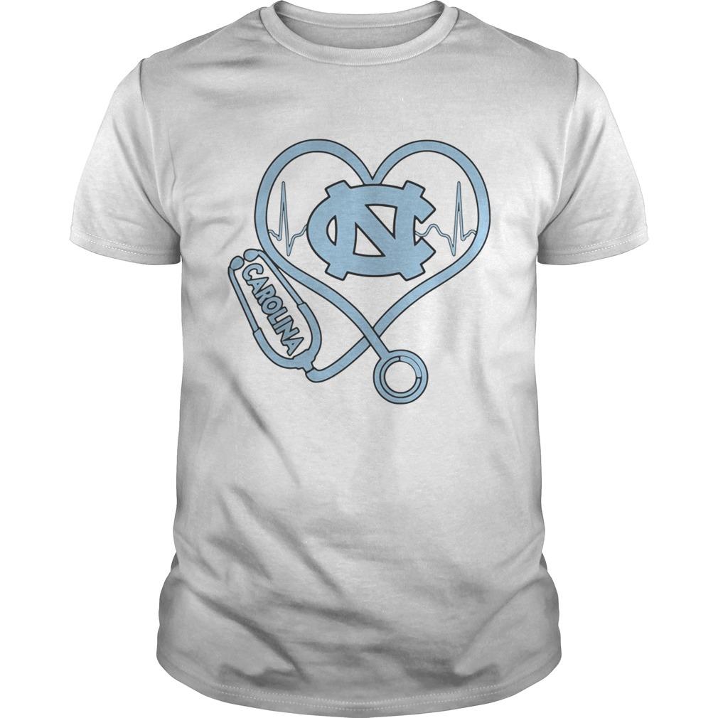 North Carolina Tar Heels mens basketball nurse stethoscope love heartbeat  Unisex