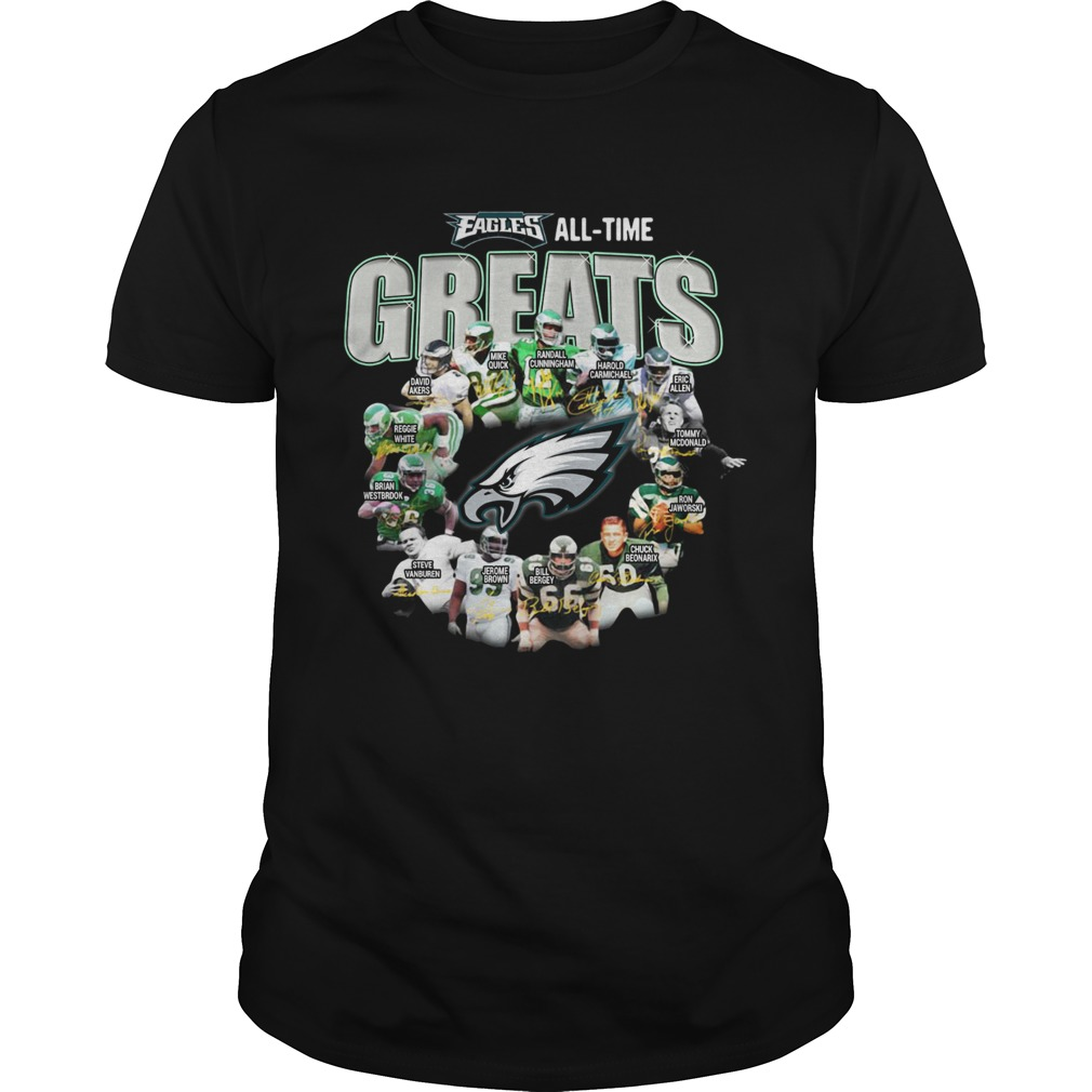 Philadelphia Eagles Players All Time Greats Signatures shirt