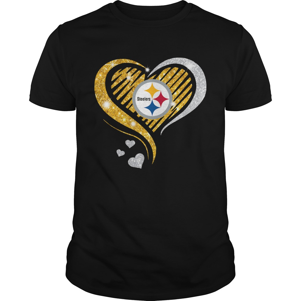Pittsburgh Steelers Diamond Heart  Unisex
