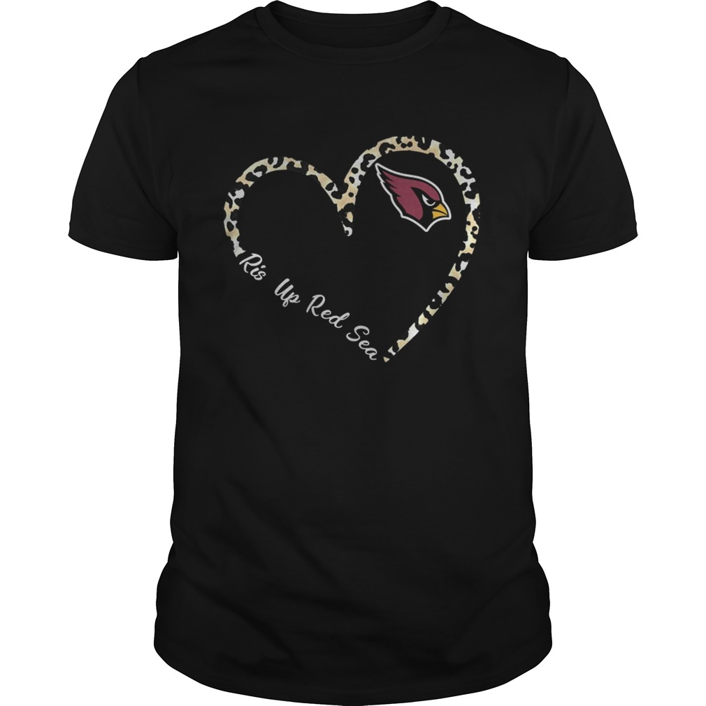 Rise Up Red Sea Arizona Cardinals Leopard Heart  Unisex