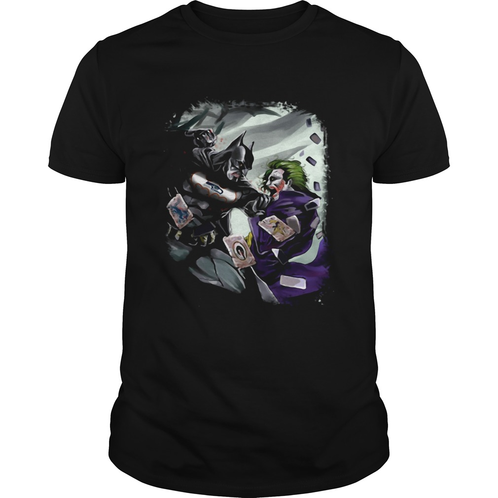 Seattle Seahawks NFL Football Batman Fighting Joker DC Comics  Unisex
