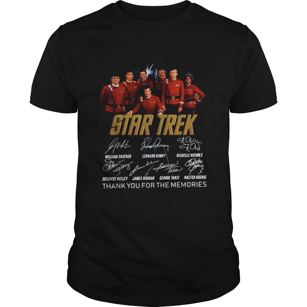 Star Trek thank you for the memories signature  Unisex