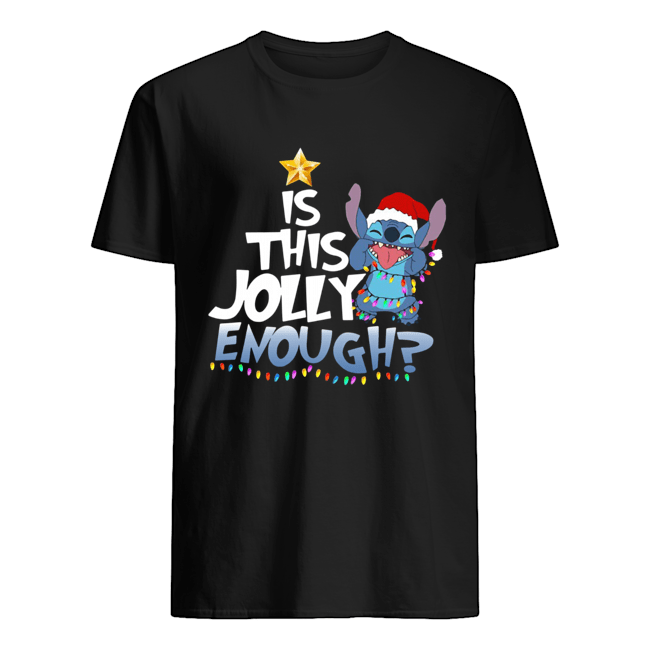 Stitch Is This Jolly Enough Christmas Lights Shirt Classic Men's T-shirt