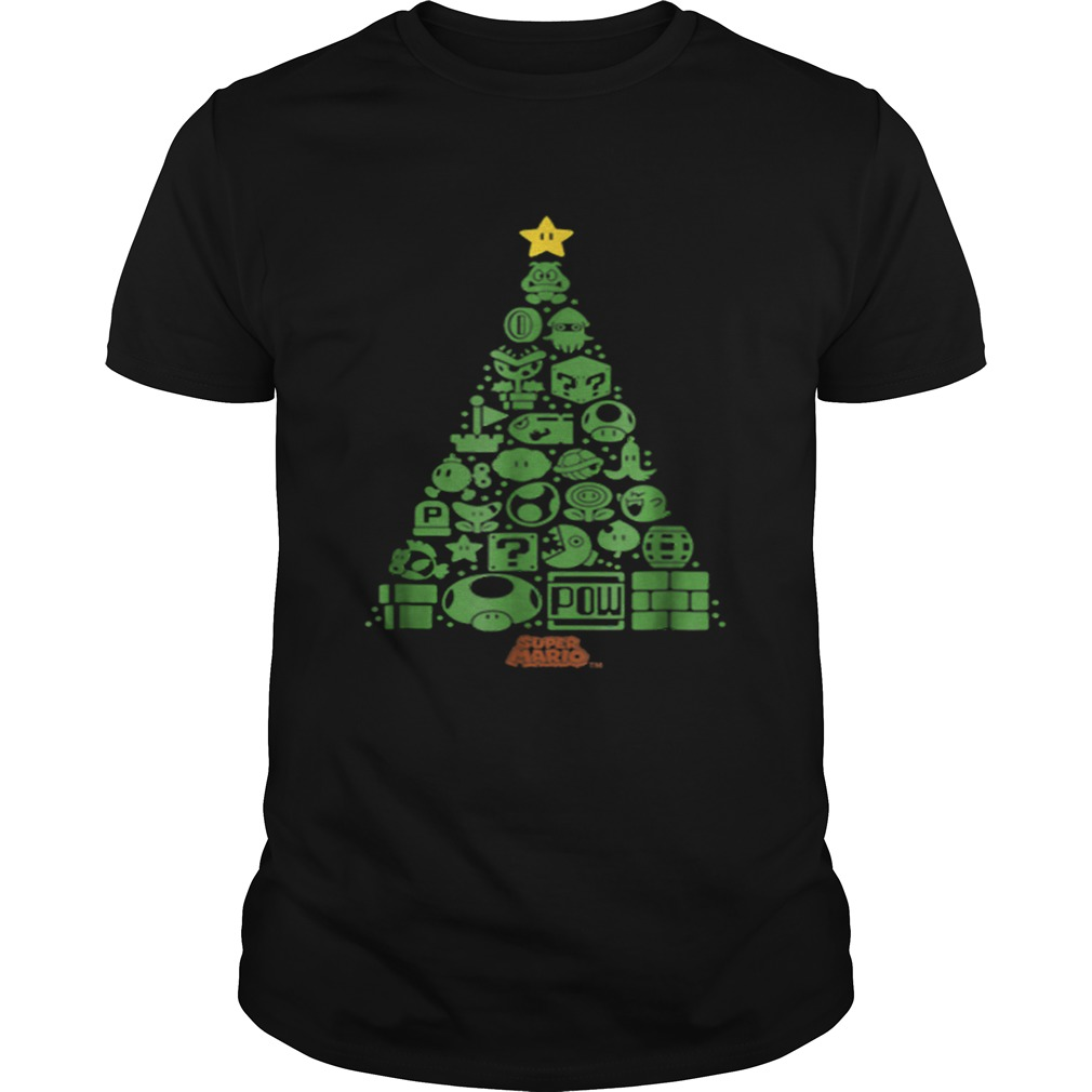 Super Mario Item Characters Christmas Tree Graphic  Unisex