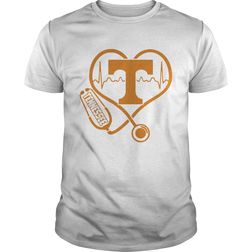 Tennessee Volunteers football nurse stethoscope love heartbeat  Unisex