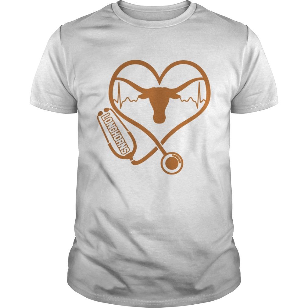 Texas Longhorns football nurse stethoscope love heartbeat  Unisex