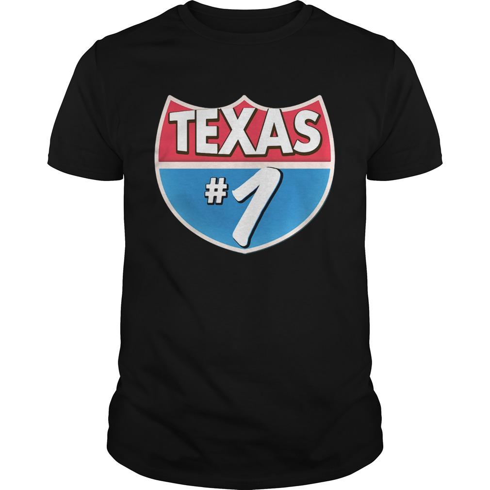 Texas Number 1 shirt