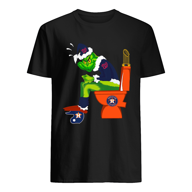 The Grinch Washington Nationals vs Houston Astros toilet  Classic Men's T-shirt