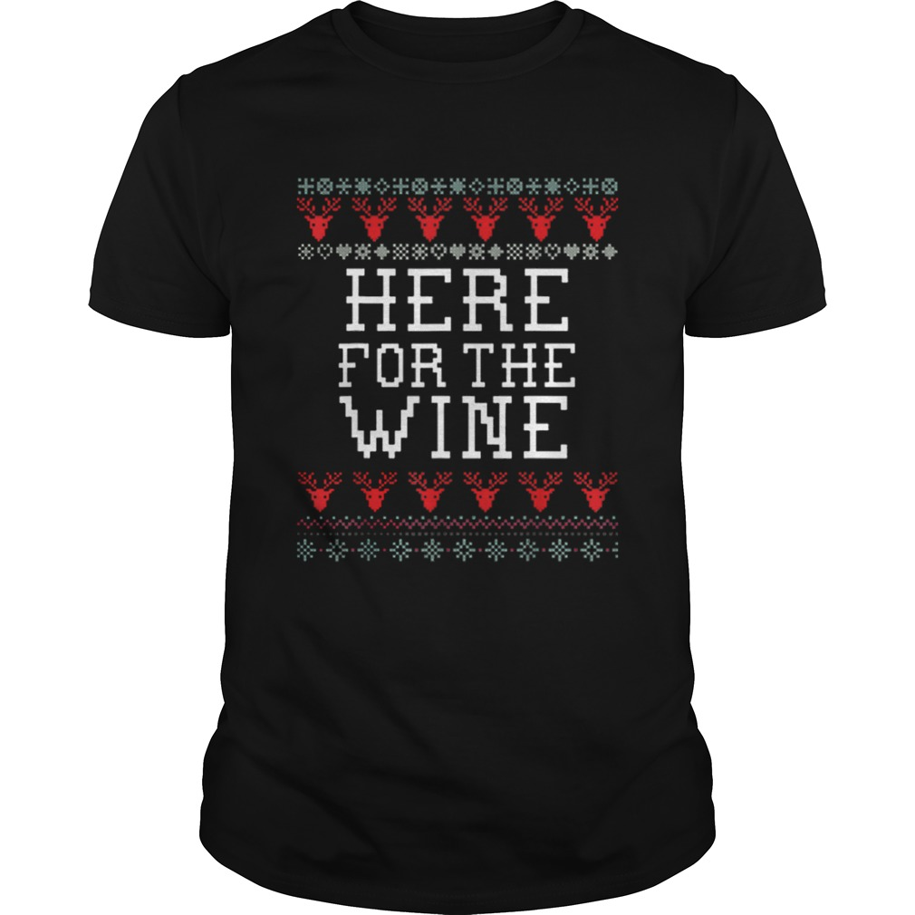 Top Wine Funny Holiday Ugly Christmas shirt