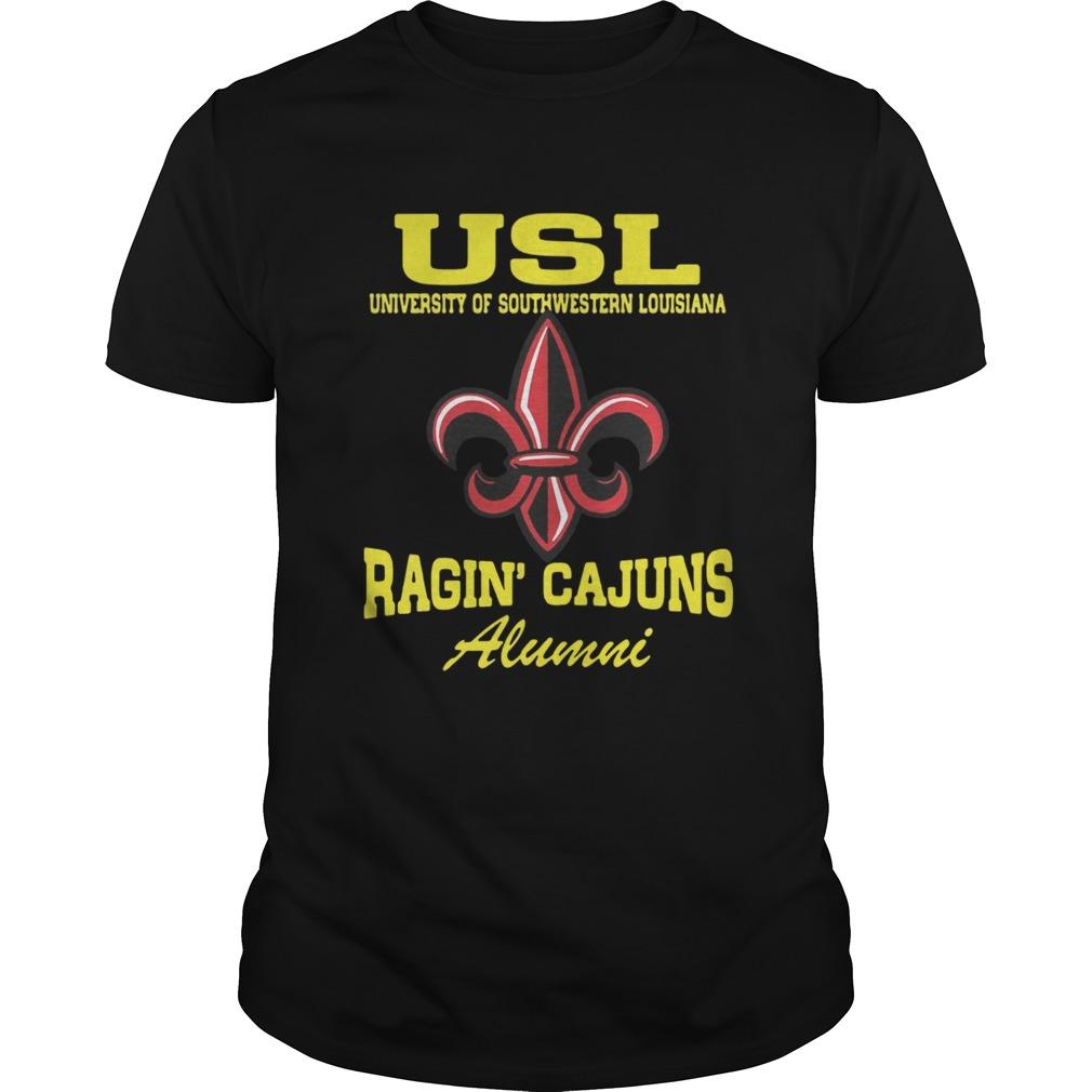 USL United Soccer League University of Southwestern Louisiana New Orleans Saints Ragin Cajuns Alum Unisex